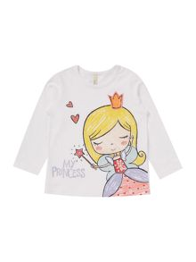 Benetton Girls Fairy Princess Long Sleeve T-Shirt