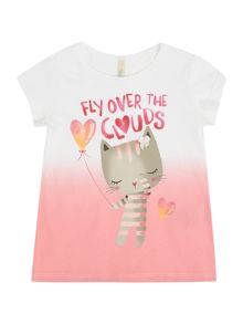 Benetton Girls Fly Over The Clouds Short Sleeve T-Shirt