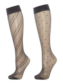 Charnos Fashion Trouserwear Knee Highs 2PP