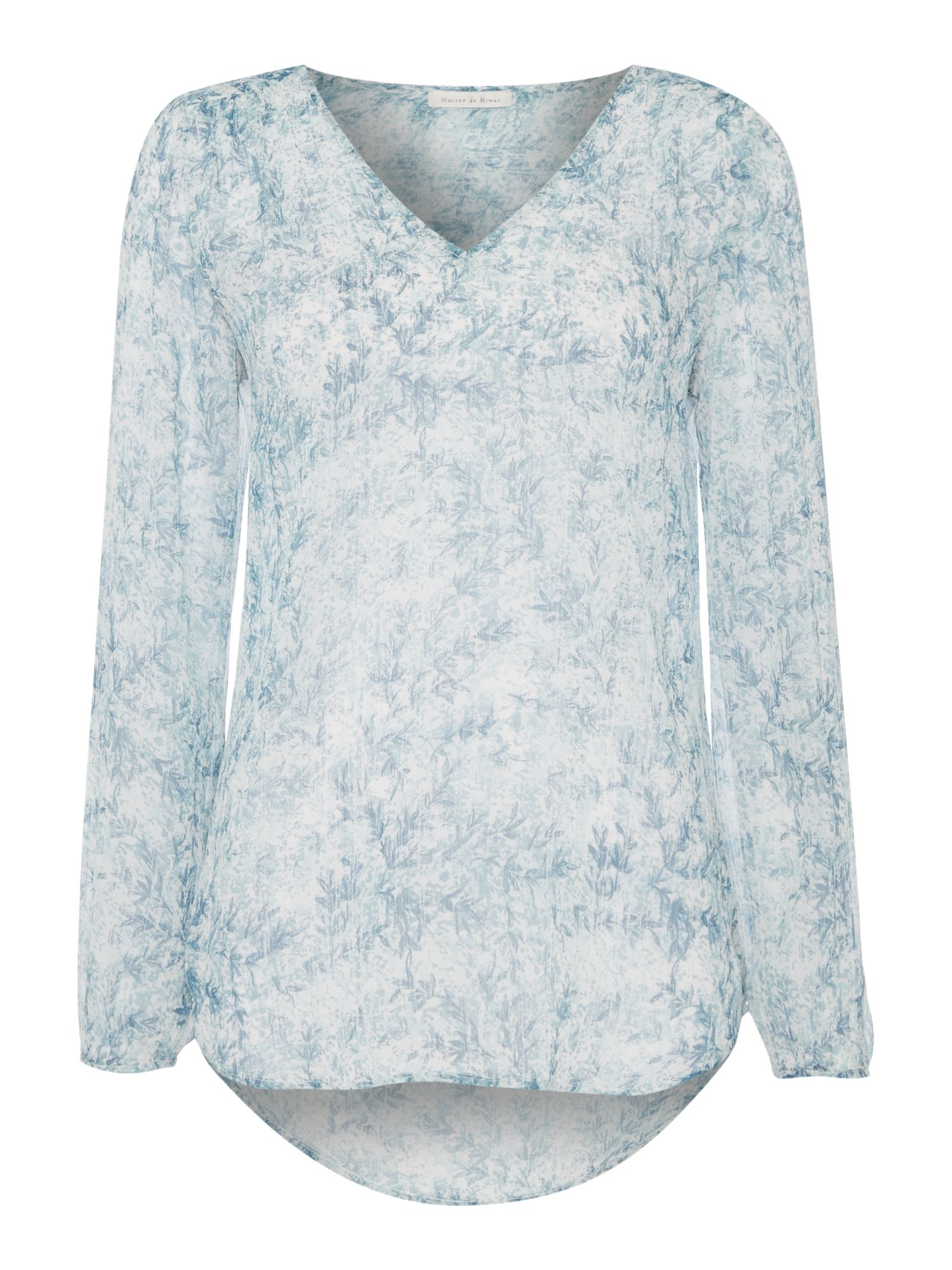 Maison De Nimes Sea Mist Blouse, Multi-Coloured