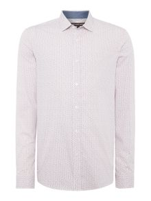 Michael Kors Slim fit samson small geo print shirt