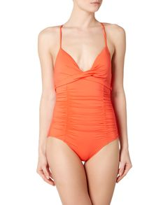 Seafolly Gathered wrap front maillot swimsuit