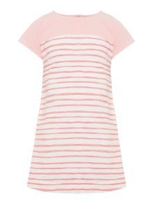 Benetton Girls Stripe Cap Sleeve Dress