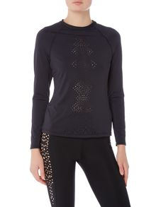 Seafolly Spice temple long sleeve sunvest sports top