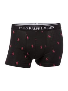 Polo Ralph Lauren 2 Pack All Over Pony and Plain Trunks
