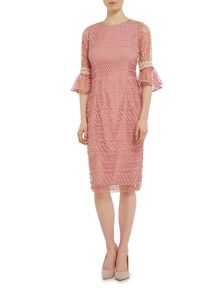 Twilight Rose Bell sleeved lace shift dress