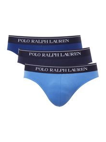 Polo Ralph Lauren 3 Pack Contrast Waistband Brief