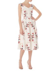 Twilight Rose sleeveless floral printed dress