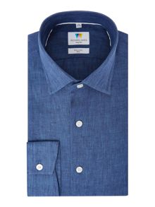Richard James Mayfair Linen Slim Fit Shirt