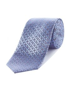 Richard James Mayfair Geo Flower Silk Tie