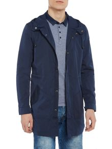 Guess Hoodied contast pocket parka jacket