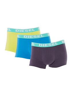 3 Pack Bright Contrast Waistband Trunk