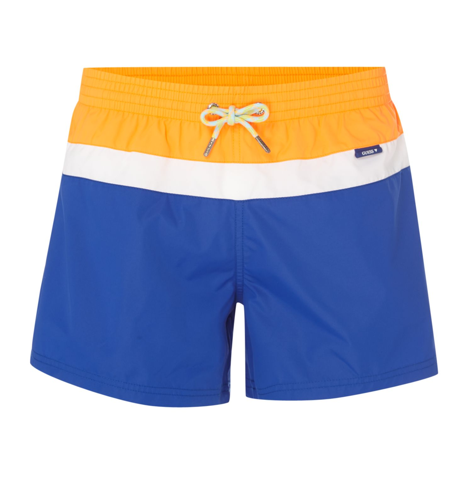 Men's Guess Tri Stripe Swim Shorts, Blue