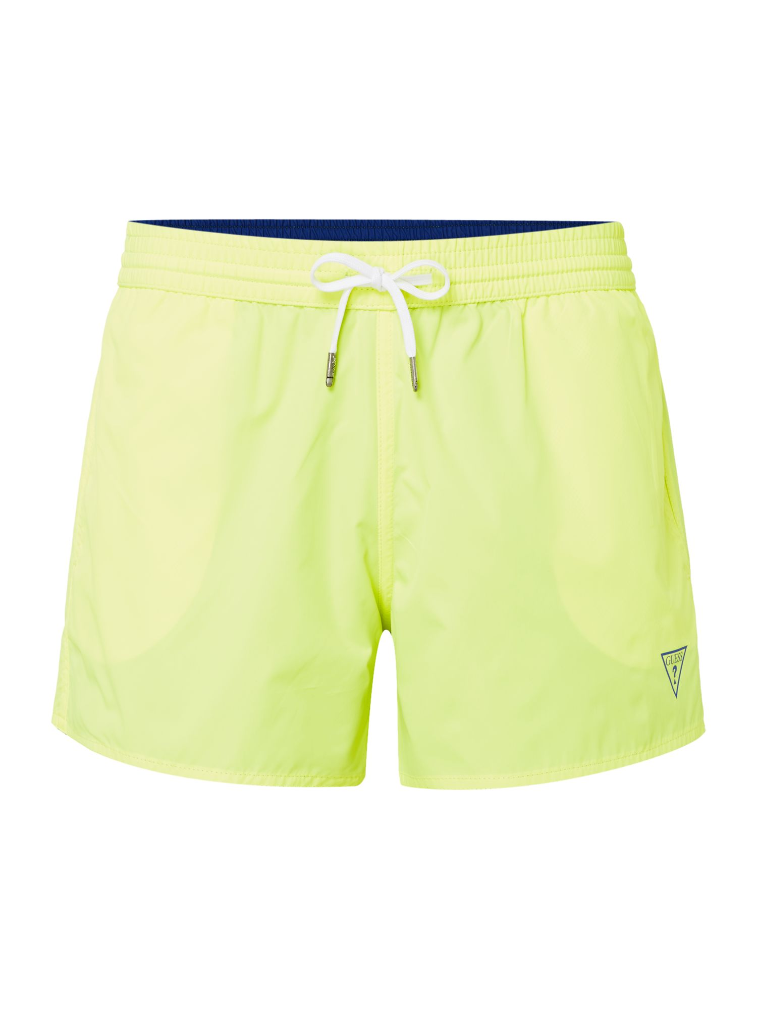 Men's Guess Reversible Logo Swim Shorts, Blue