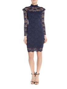 Jessica Wright Kennie long sleeve lace bodycon dress