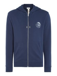 Diesel Mohican Head Zip Up Brandon Hoodie