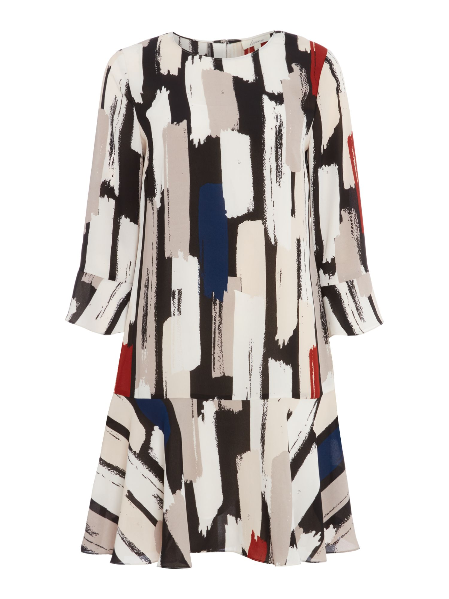 Linea Olivia brush printed tunic, Multi-Coloured