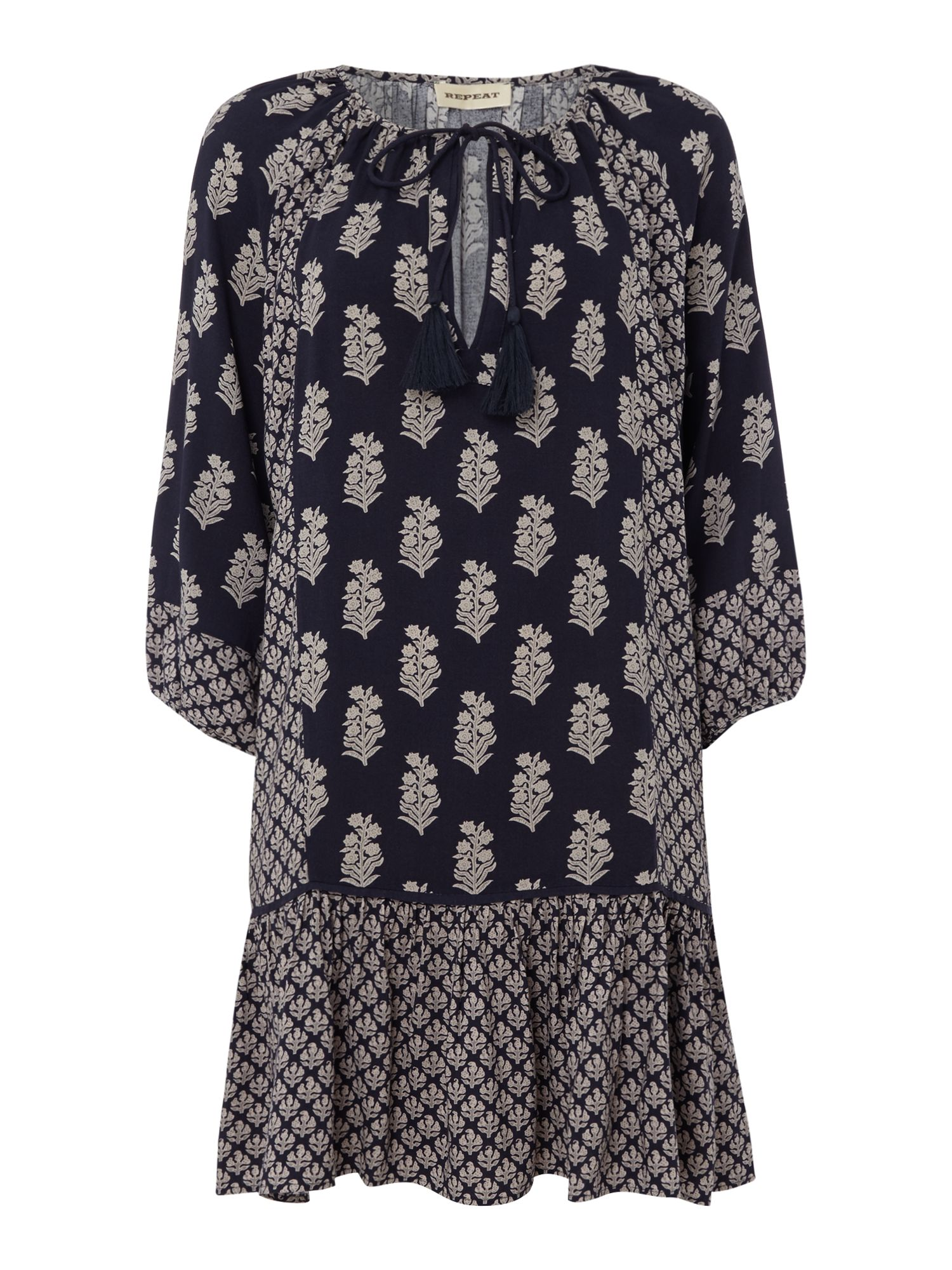 Repeat Cashmere Floral print dress, Ink