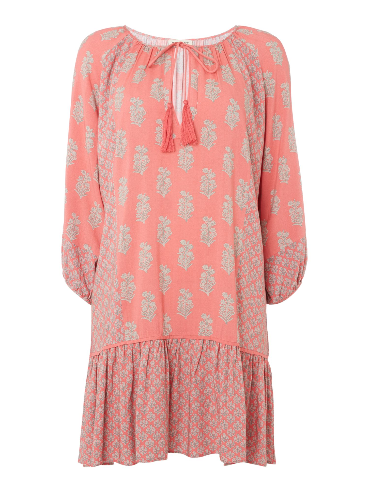 Repeat Cashmere Floral print dress, Red