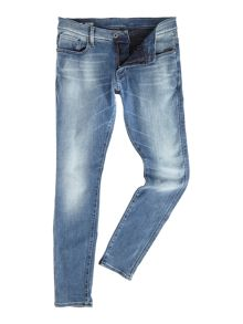 G-Star Revend slander super slim mid wash stretch jeans