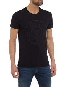 Guess Large embroidered circle logo t-shirt
