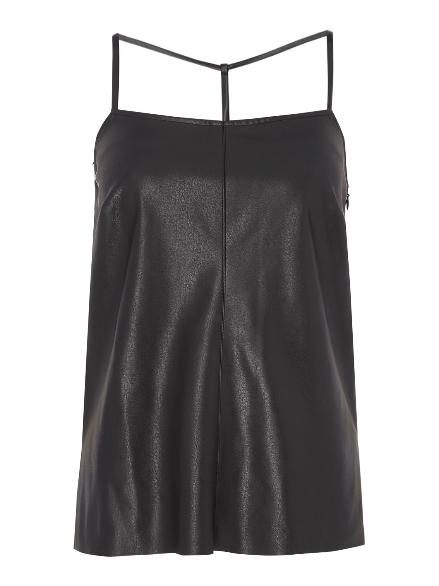 Label Lab PU T-bar Cami, Black