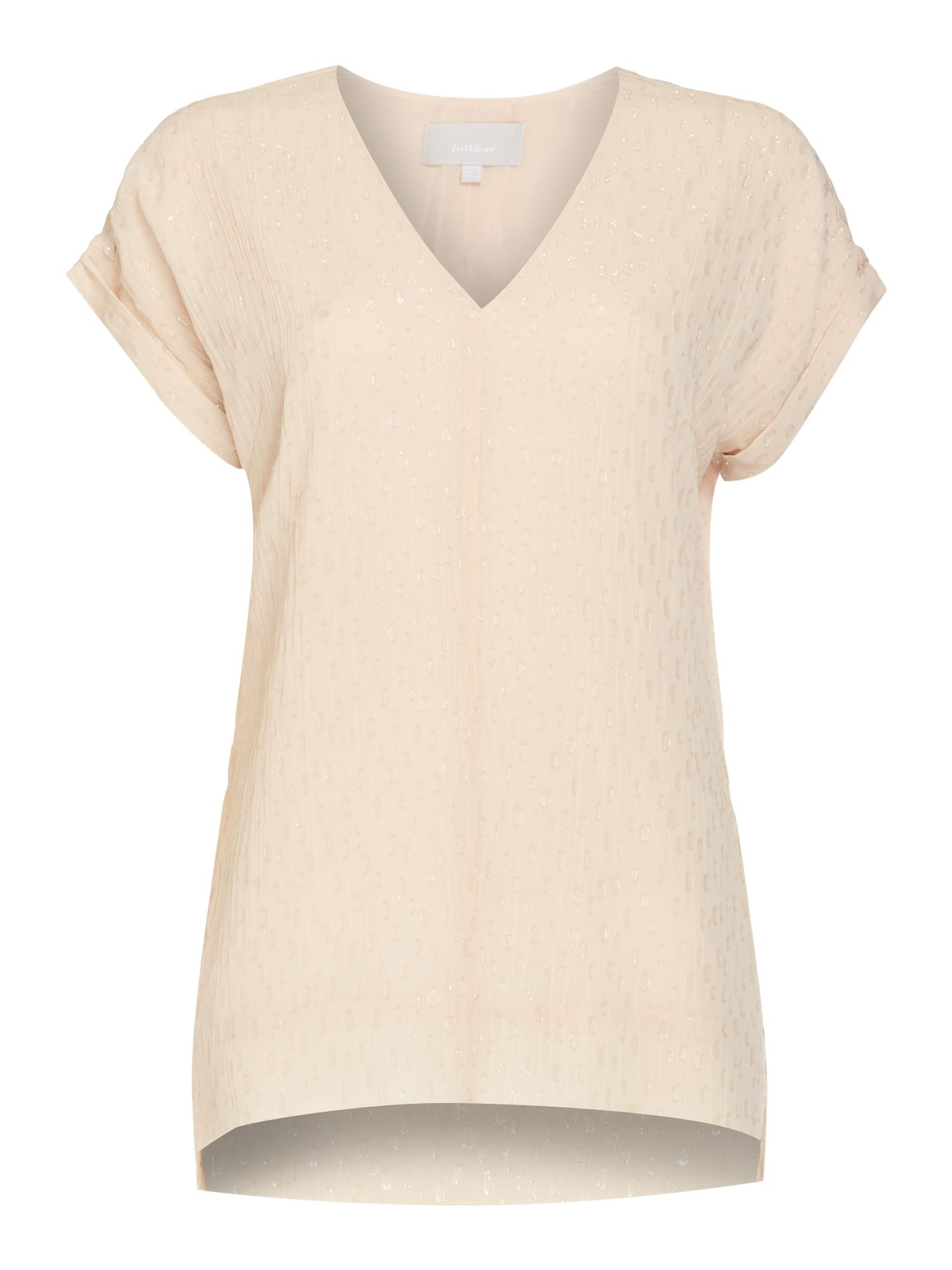 In Wear Fleck top with V neck, White