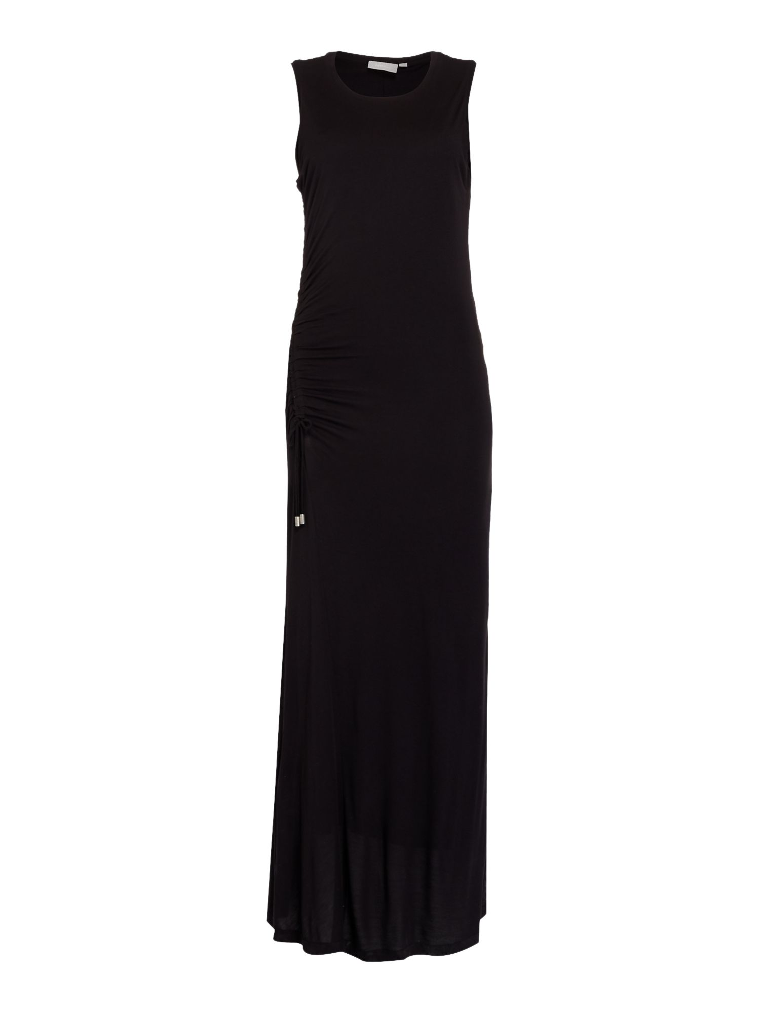In Wear Sleeveless ruched side maxi dress, Black