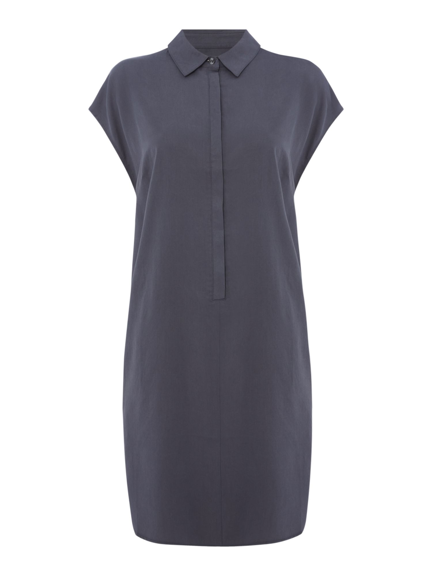 Maison De Nimes Solid shirt dress, Blue