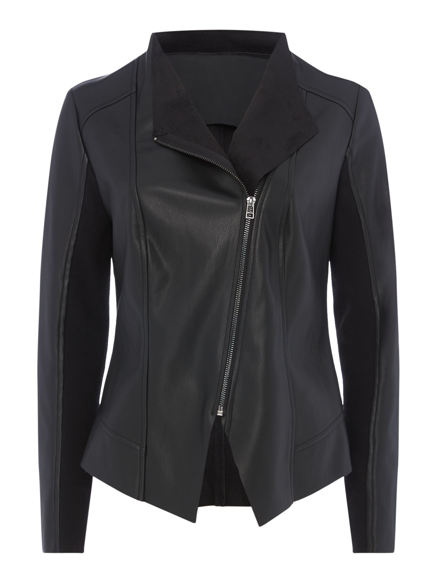 Maison De Nimes Zip faux leather jacket, Black
