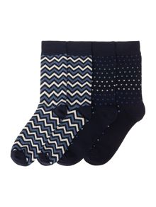 Jack & Jones 4 Pack Jactdots Printed Sock