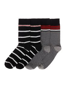 Jack & Jones 4 Pack Jacstripemix Socks