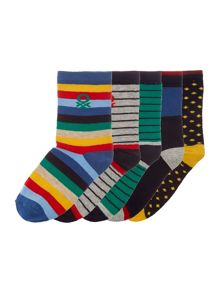 Benetton Boys Pattern Socks 5 Pack