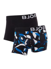 Bjorn Borg 2 Pack Scott Print and Plain Trunks