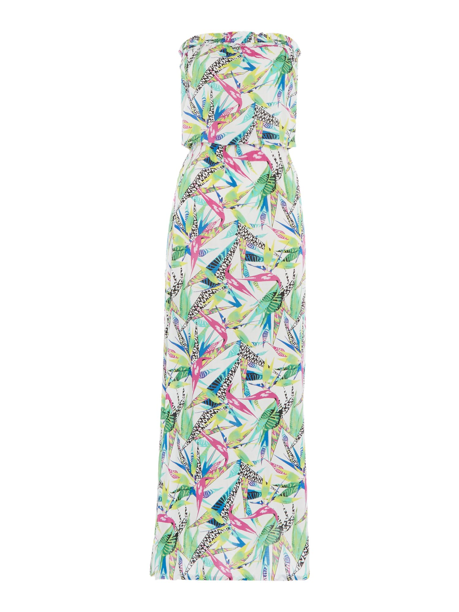 Freya Tropicool bandeau maxi dress, Multi-Coloured