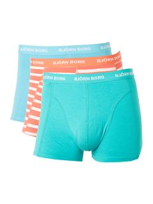 Bjorn Borg 3 Pack Stripe and Solid Trunks