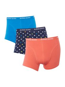 Bjorn Borg 3 Pack Dot and Plain Trunks
