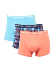 Bjorn Borg 3 Pack Check and Plain Trunks