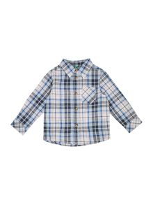 Benetton Boys Multi-coloured Check Long Sleeve Shirt