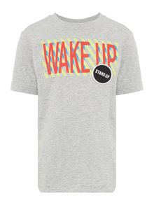 Benetton Boys Wake Up Short Sleeve T-Shirt