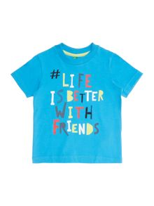 Benetton Boys Friends Short Sleeve T-Shirt