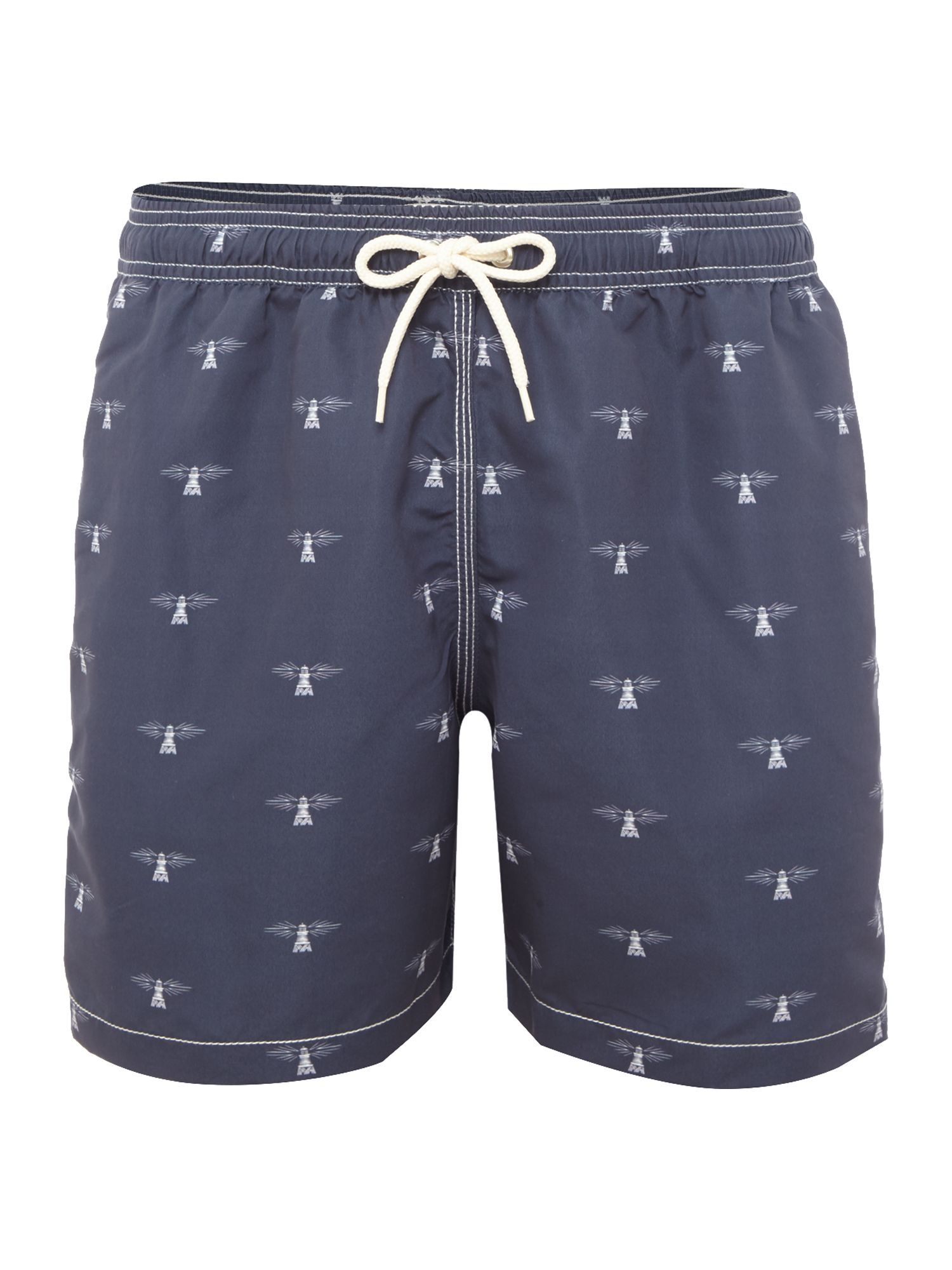 Men's Barbour Beacon Print Swim Shorts, Blue