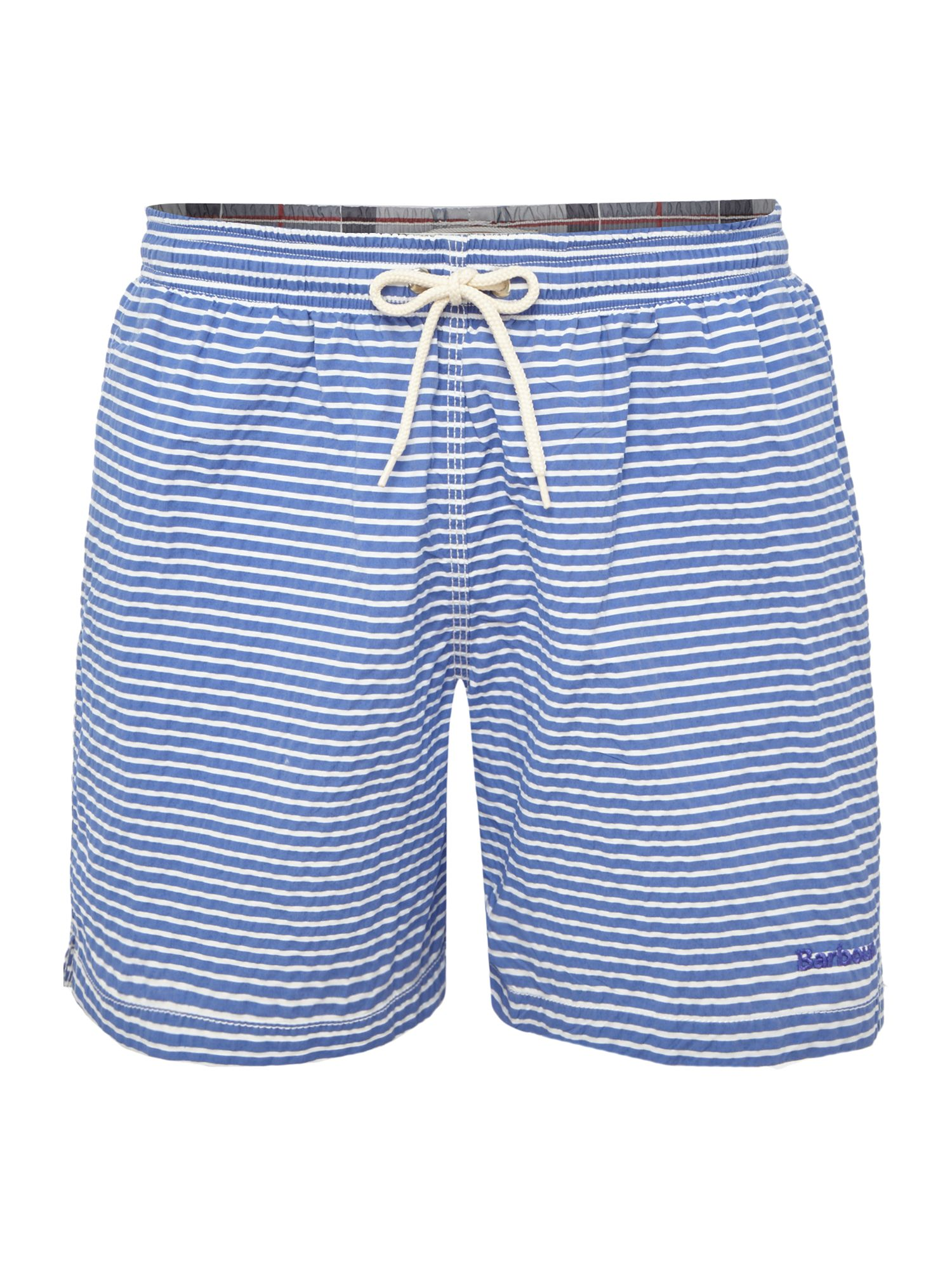 Men's Barbour Stripe Logo Swim Shorts, Blue