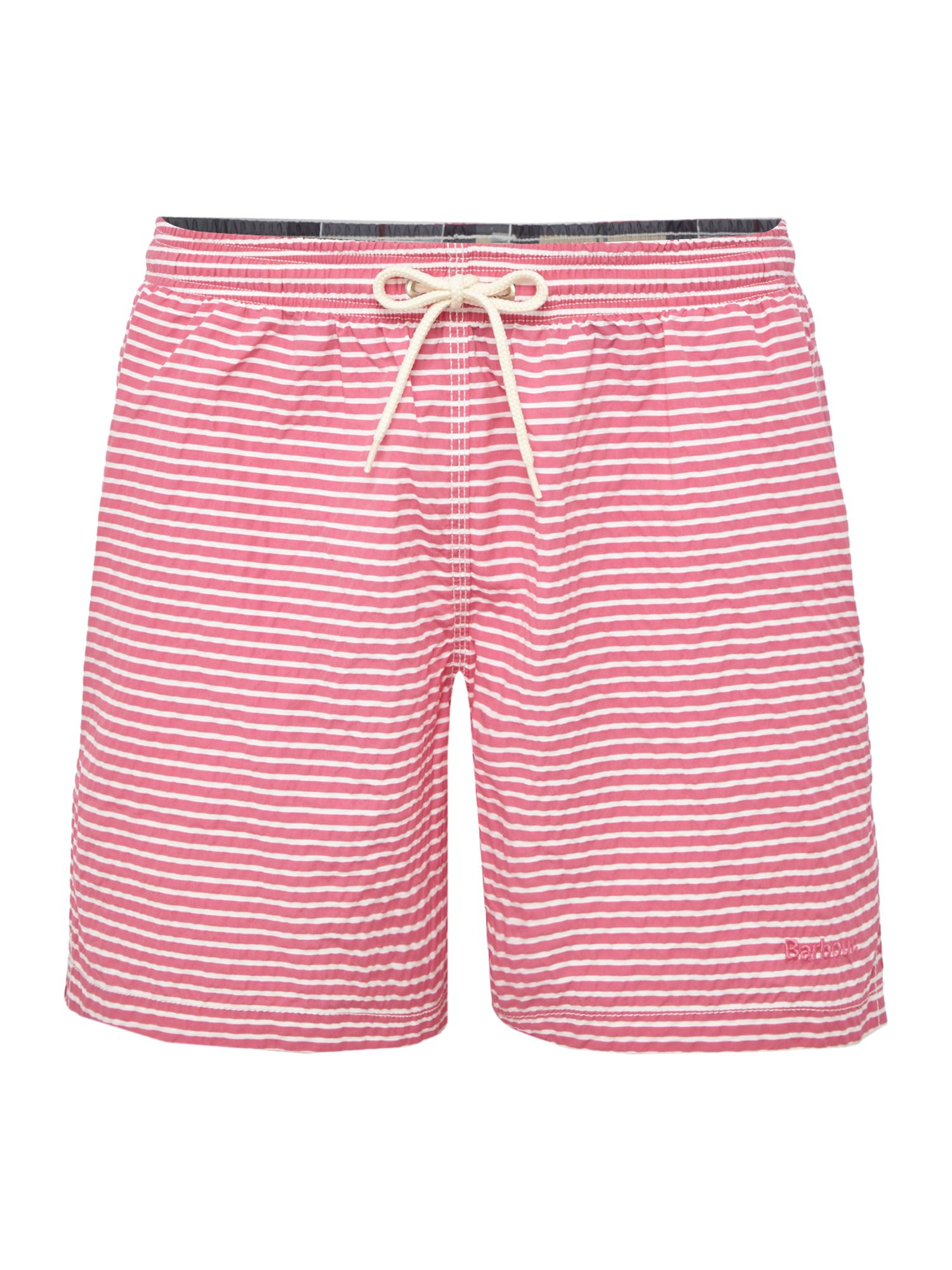 Men's Barbour Stripe Logo Swim Shorts, Pink
