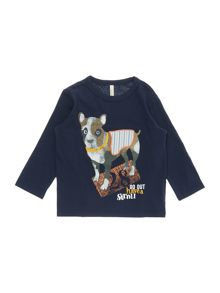 Benetton Boys Dog Long Sleeve T-Shirt