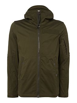 Hooded zip-up overshirt