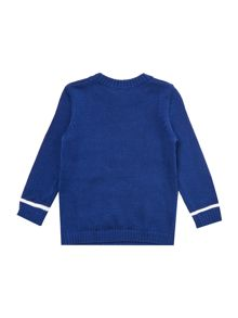 Benetton Boys Long Sleeve Superhero Knit Jumper