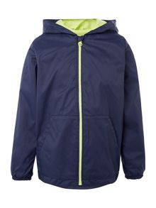 Benetton Boys Zip Up Hooded Rain Jacket