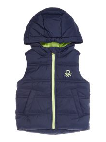 Benetton Boys Zip up Padded Gilet