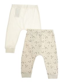 name it Baby Cat Print 2 Pack Trousers